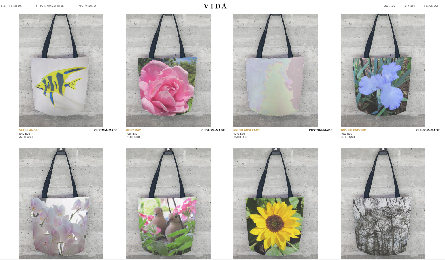 Lois Gallo tote bags original art designs - Vida Shop